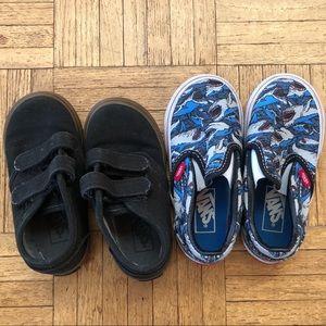 2 pairs Toddler Vans 7/7.5